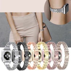For Apple iWatch Series 5 4 3 2 1 Bling Shiny Band Slim Thin Straps Link Replace