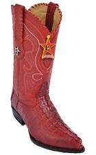 LOS ALTOS CAIMAN TAIL COWBOY BOOTS J-TOE 990112 RED