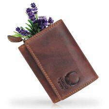 Damen Leder Geldbörse Klein Herren Geldbeutel RFID mini Portmonee Portemonnaie