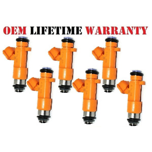 6 x OE 16600EY00A fit Infinity Nissan 3.7L 09-17 VQ37VHR Fuel Injectors