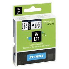 Nastro D1 S0720780 Bianco Stampa Nero Lunghezza 6mm Profondita 7000mm DYMO 43613
