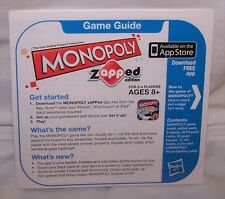 Monopoly Zapped Game Replacement Instructions 2012 Touchscreen Banking Apple