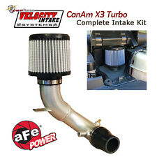 CanAm X3 Turbo Velocity Intake Kit +10HP Increase AFE Air Filter pwrtune Stage 3