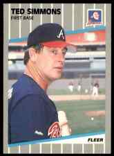 1989 Fleer Ted Simmons #599