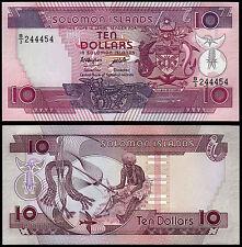 SOLOMON ISLANDS 10 DOLLARS (P15a) N. D. (1986) PREFIX B/3 UNC