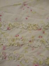 Simply Shabby Chic Pink & White Shower Curtain-Ruffles at Top