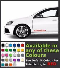 SUBARU IMPREZA  Side Premium Decals/Stickers x 2