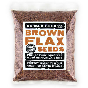 Gorilla Food Co. Brown Flax Seeds Whole (Linseeds) - 400g