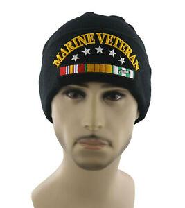 NEW! US MARINE VETERAN CAP HAT USMC BEANIE BLACK