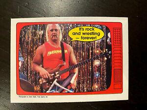 1985 O-Pee-Chee WWF Serie 2 #66 Hulk Hogan It's Rock and Wrestling ''GRADABLE''