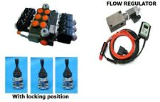 HYDRAULIC VALVE 3 FUNCTIONS MOTOR SPOOL GRITTER Proportional flow control 12V