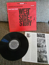 "OUEST SIDE STORY BANDE ORIGINALE BSO LP VINYLE 12"" 1966 VG/VG COLUMBIA USA EDIT"