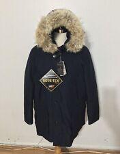NWT Men's WOOLRICH John Rich & Bros. Gore-Tex Arctic Fur Trim Parka, XL, Navy