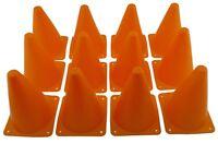 "Orange Training Aid Cones Tall Sports Traffic Safety Soccer Football Cone Lot 7"""