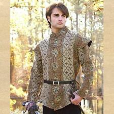 Renaissance Medieval Fantasy Royal Court Doublet Coat Gambeson Arming Jacket New