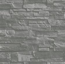 Rasch Factory II -  475029 - Vliestapete Steinoptik grau