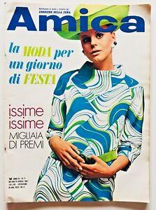 Amica n. 17 1967 Rivista moda Supplemento Corriere della Sera Roland Di Centa
