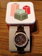FOSSIL STELLA MULTIFUNCTION TORTOISE RESIN WATCH NEW MRRP £109.99