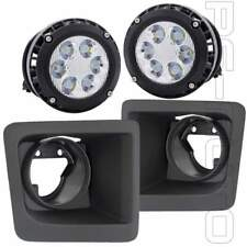 Fit 2014 2015 GMC Sierra 1500 Fog Lights w/ Bezels & 6000K Built-in LED Upgraded
