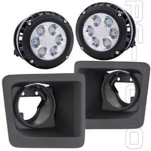 Fit 2014 2015 GMC Sierra 1500 Fog Lights w/ Bezels & 6000K Built-in LED Upgraded
