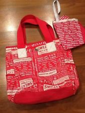 Lululemon Manifesto Gym Bag tote In Hot Pink And White with shoe bag