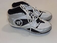 Warrior Lacrosse Youth Vex 2.0 Cleat Shoes - White/Silver/Black Size 5