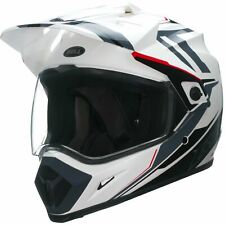 Bell MX-9 Adventure Adult Motocross Enduro Helmet - Barricade Black White