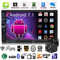 "Android 7.1 Quad Core 3G WIFI de 7"" 2 DIN Car Radio estéreo MP5 GPS Player+Cáma"