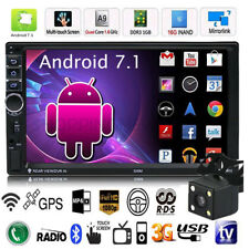 "Android 7.1 Quad Core 3G WIFI de 7"" 2 DIN Car Radio estéreo MP5 GPS Player+Cáma"