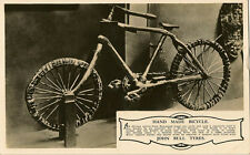 BICYCLE : John Bull Tyres Representative's postcard  - Hand made Bicycle-RP