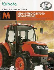 Farm Tractor Brochure - Kubota - M5040 M9540 et al - 2005 (F1580)