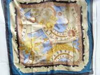 LEOMIA Seidentuch scarf foulard 100% Seide silk soie bedruckt Motiv.3