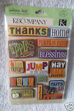 K & Company Autumn Day Grand Adhesion Scrapbook New