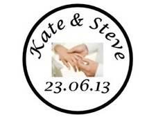 70 Personalised Wedding Stickers Envelope Seal Sticker Hands Round seals