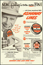 1948 vintage ad for Ashaway Fishing Lines 'Land More Fish!'-090112