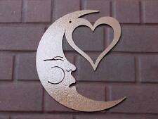 MOON HEART FACE METAL WALL ART HOME DECOR GARDEN PATIO