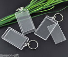 50 Key Chain &Key Rings W/Acrylic Picture Frames