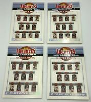 (4) 1993 Topps Archives NBA Basketball Master Photo Draft Picks Sets #1-12