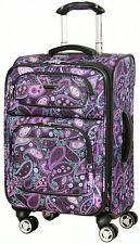 "Ricardo Beverly Hills Mar Vista 20"" 4 Wheel Expand Carry On Luggage - Purp Paisl"