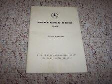 1955-1963 Mercedes Benz 190SL Owner Manual Convertible Roadster 56 57 58 59 60