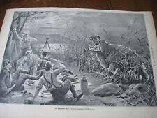 1898 Art Print - Stanley Berkeley of Hippo Attack Hunting Camp Camping Hunt