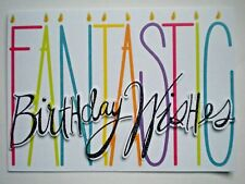 "PAPER MAGIC ~ GLITTERY ""FANTASTIC BIRTHDAY WISHES"" GREETING CARD + ENVELOPE"