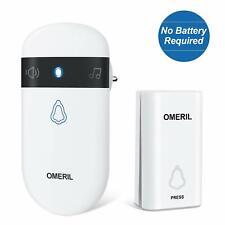 Funk Türklingel Ohne Batterie OMERIL Funkklingel Aussen Wasserdicht Klingel