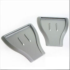 CAR ROOF HOOD SIDE FENDER AIR FLOW SCOOP DECORATION VENT COVER SILVER X 2 PIECES