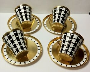 Soviet Russian 916 silver enamel Coffee CUP with Plate.Very good condition