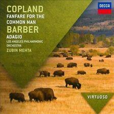 Copland: Fanfare For The Common Man; Barber: Adagio; 2011 CD, Zubin Mehta, Los A
