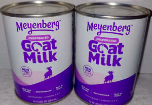 (2 CANS)12 FL Original Meyenberg EVAPORATED GOAT MILK Vitamin A&D Potassium 7/24
