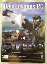 Halo Combat Evolved Poster Ad Print X-Box PC