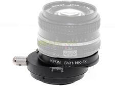 Adattatore SHIFT per obiettivi Nikon su corpi Fuji X. Per foto architettura.