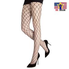 Women Large Hole Diamond Mesh Fishnet Sexy Stocking Hosiery Black Hot Pantyhose